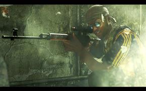 glasses, smoke, Sniper, rebel.