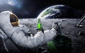 astronauta, luna, riposo