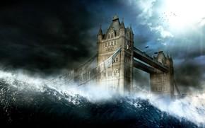 flots, Londres, Angleterre, ville