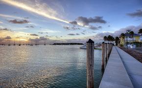 lake, wharf, Boat, landscape