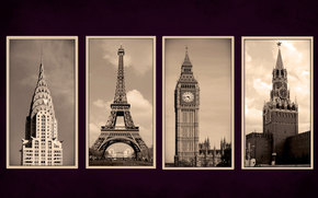 new york, Paris, London, moscow, of