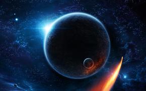 艺术, 空间, 地球, 卫星, 明星, 星云, 彗星