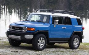 Toyota, EfDzhey, Cruiser, SUV, wallpaper, Japan, blue, jeep, machine, wheelbarrow, toyota