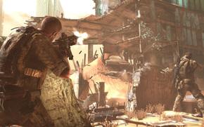 combatientes, edificio, escaramuza