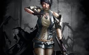 Warrior, weapon, Kitana