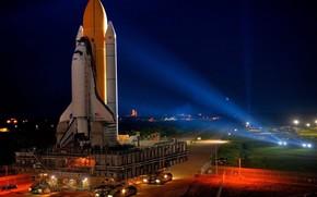 космодром, шатл, запуск