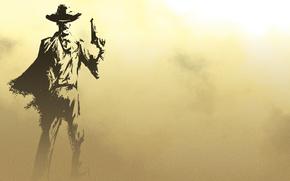 hombre, vaquero, Arma, fondo