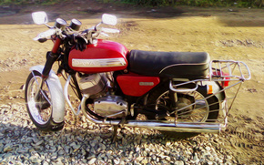 Giava, 634, motocicletta, Photoshop, Jawa, classico, auto, macchinario, Auto