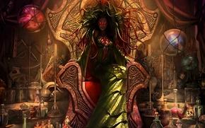 mistress, throne, magic