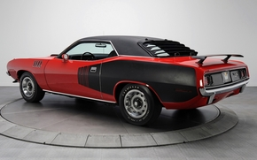 Plymouth, Hemis, where, compartment, red, back view, muscle car, background, Other brands