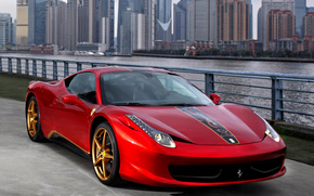 Ferrari, 458 italia, sports car, red, cars, machinery, Car