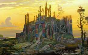 Vsevolod Ivanov, Temple at the lake, Art