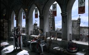 masiaf, Altair, muzhik, Assassin, girl