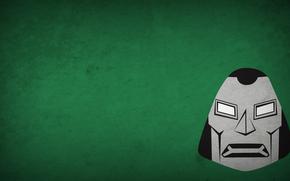 minimalism, Doctor Doom, villain, green