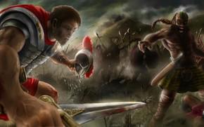 Art, battle, army, War, battle, Roman, Armor