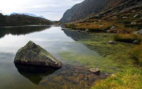 lago, Montagne, paesaggio