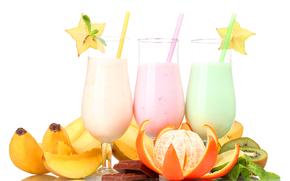 picior, Cocktail-uri, milkshake, fruct, tubulilor, mandarin, banane, ciocolat, kiwi, ment