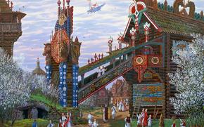 Rus prncipe lleg en la primavera, Vsevolod Ivanov, Arte