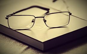 очки, свет, стиль, книга, чтение
