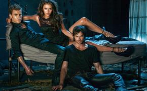The Vampire Diaries, serie, Paul Wesley, Nina Dobrev, Ian Somerhalder
