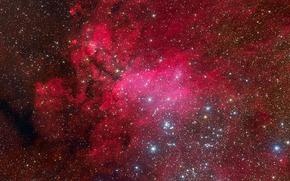 emission nebula, constellation, scorpion