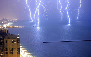 Michigan, lake, Lightning