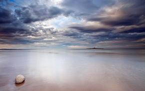 sea, sky, stone, landscape