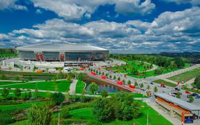 Donbass Arena, miner, stadium, park, football