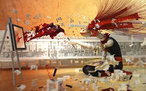 арт, художник, креатив, кисть, мольберт, краски, буквы