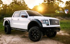 джип, белый, Ford
