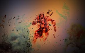Assassino, fuoco, guerra, battaglia, Photoshop, NuboMaster