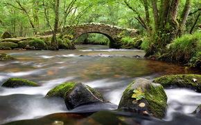 river, bridge, landscape