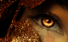 eye, macro, shine, tinsel, amber eyes, picture, Berries