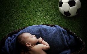 младенец, мяч, настроение