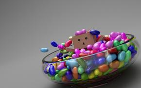 box, little man, candy