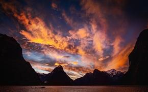 Новая Зеландия, закат