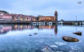 city, sea, wharf, lighthouse, Boat