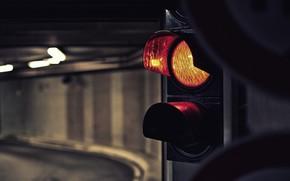 светофор, туннель, свет