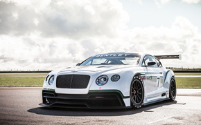 Bentley Coninental, white, track, cars, machinery, Car