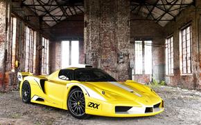 Ferrari Enzo, суперкар, руины, автомобили, машины, авто
