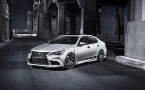 Lexus, notte, strada, ponte, auto, macchinario, Auto