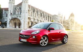 opel, red, Street, cars, machinery, Car