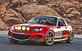 Mazda, MX5, red, track, cars, machinery, Car
