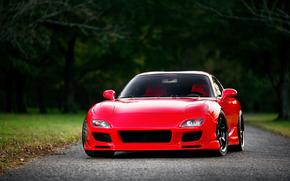 мазда, красная, Mazda