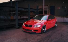 BMW, red, toned, hatch, shadow, bmw