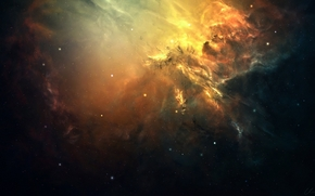 Art, space, nebula, Star, congestion, glow