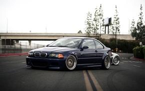 BMW, 立方メートル, E46, クーペ, スタンス, 低い, BBS, stancenation,