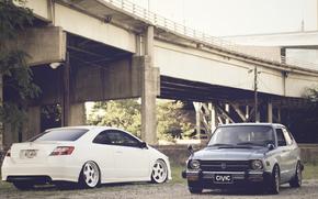 хонда, сивик, мост, Honda