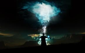 человек, энергия, горы