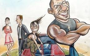 Vin Diesel, Paul Walker, Jordana Brewster, Michelle Rodriguez